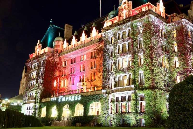 Hotel em Victoria, Columbia Britânica da imperatriz, Canadá imagens de stock
