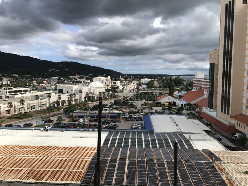 Hotel en la mejor sol de Saipán garapan imagen de archivo libre de regalías