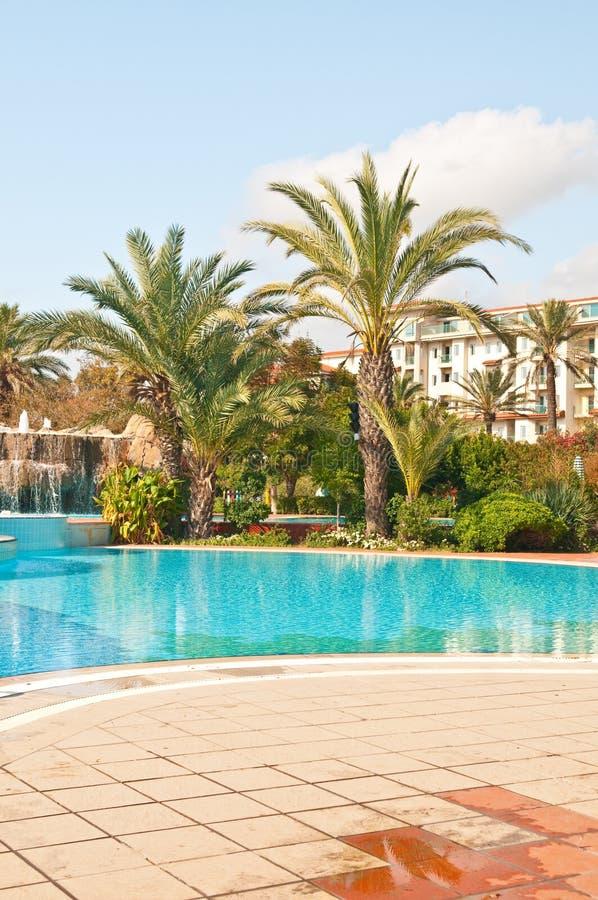 Hotel en pool stock foto's