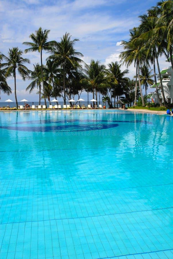 Hotel en Tailandia en costa de imagen de archivo