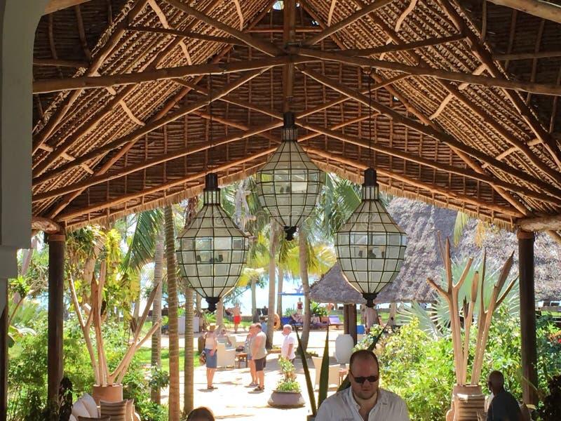 Hotel en Zanzíbar imágenes de archivo libres de regalías