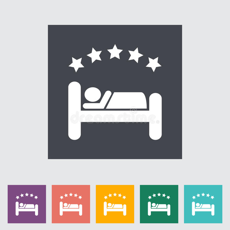 Hotel enig vlak pictogram. stock illustratie