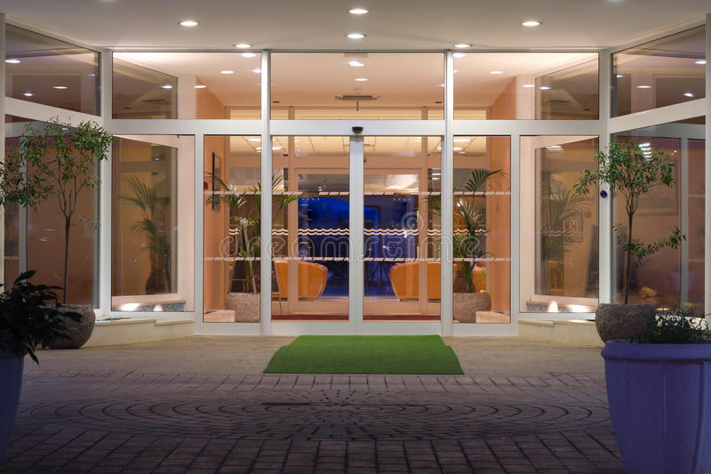 Hotel entrance royalty free stock photo
