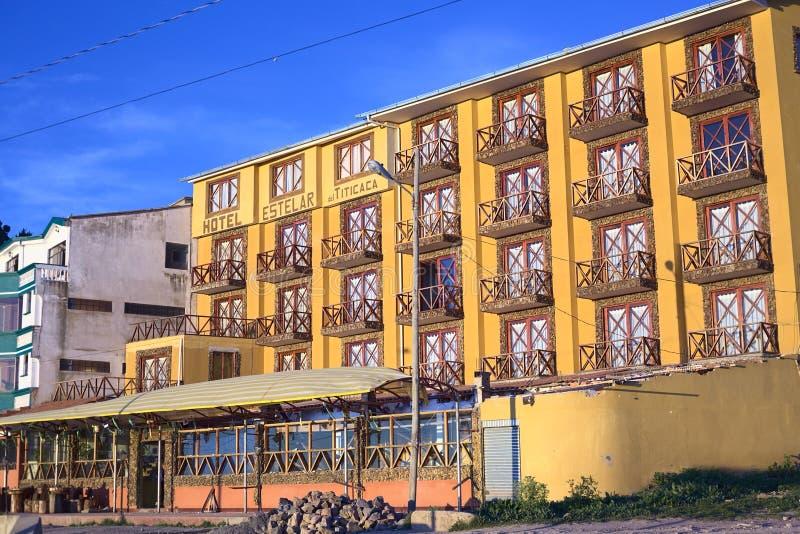 Hotel Estelar del Titicaca em Copacabana, Bolívia fotografia de stock royalty free