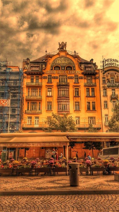 Hotel Evropa imagem de stock