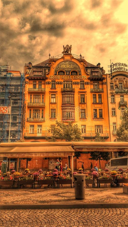 Hotel Evropa stock image