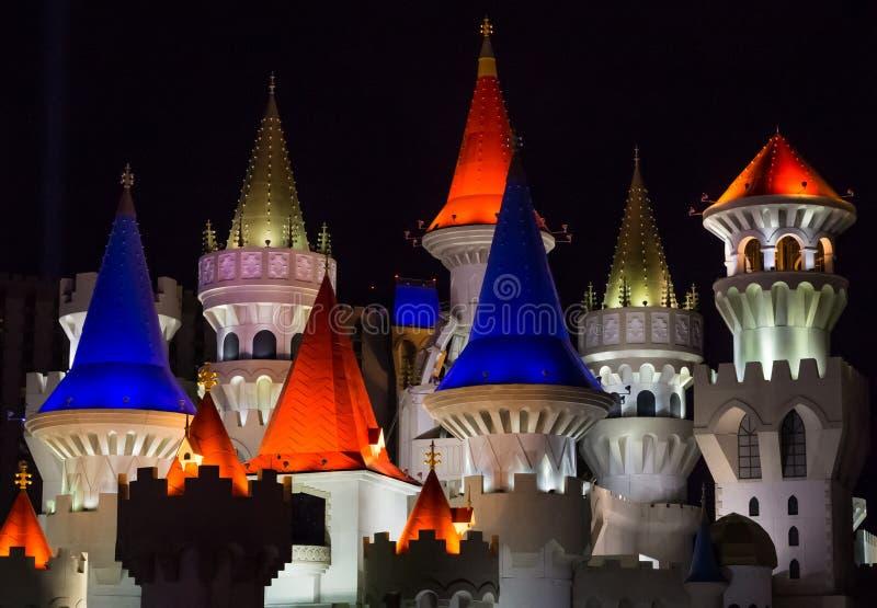 Hotel Excalibur op de strook van Las Vegas royalty-vrije stock afbeeldingen