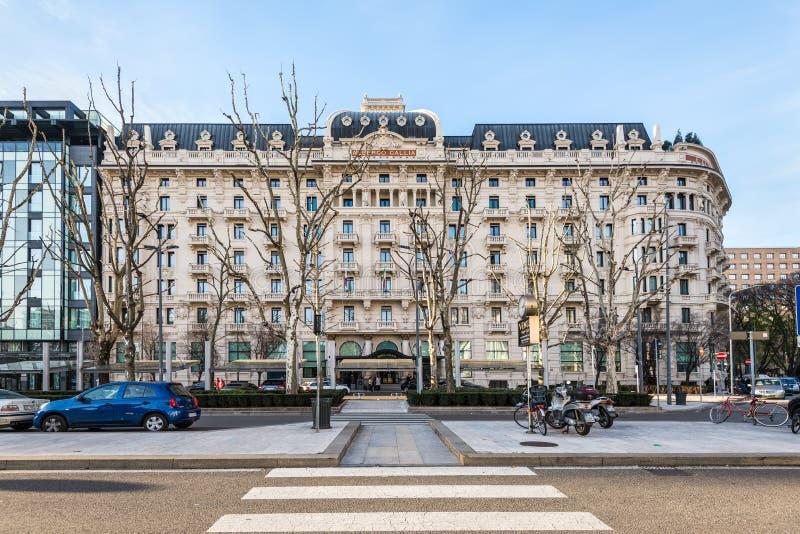 Hotel excelsior Gallia, un hotel di lusso della raccolta, Milano, Italia fotografia stock libera da diritti
