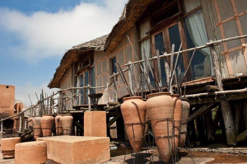 Hotel extraordinario del safari imagen de archivo