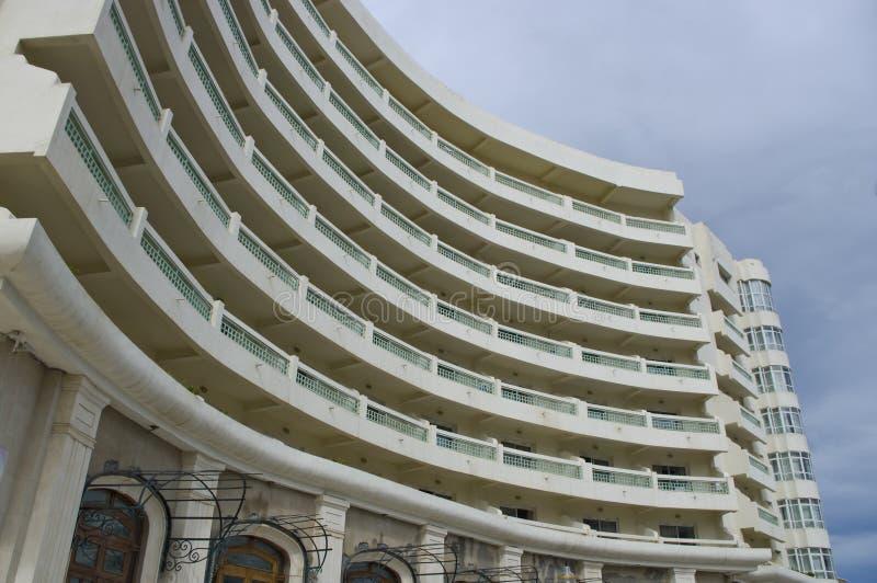 Hotel facade. New hotel facade in Port El Kantaoui Tunisia stock photography