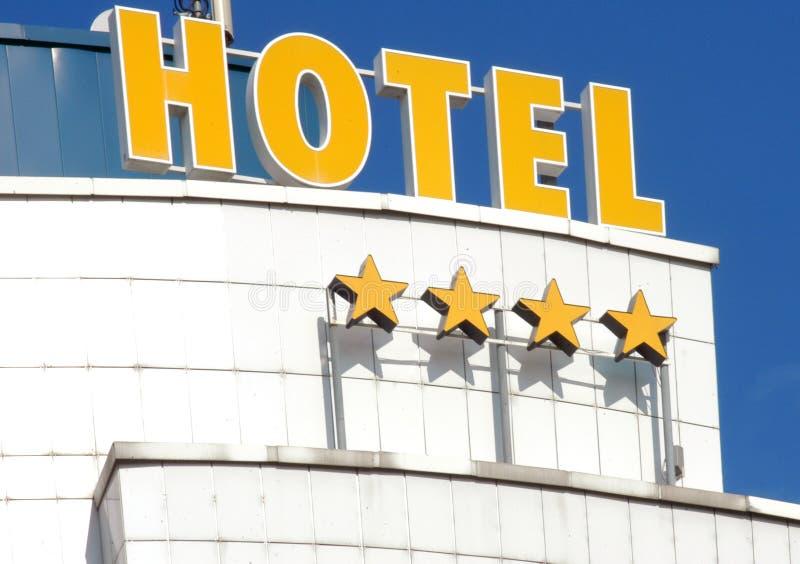 Hotel facade. Detail of four stars hotel facade stock image