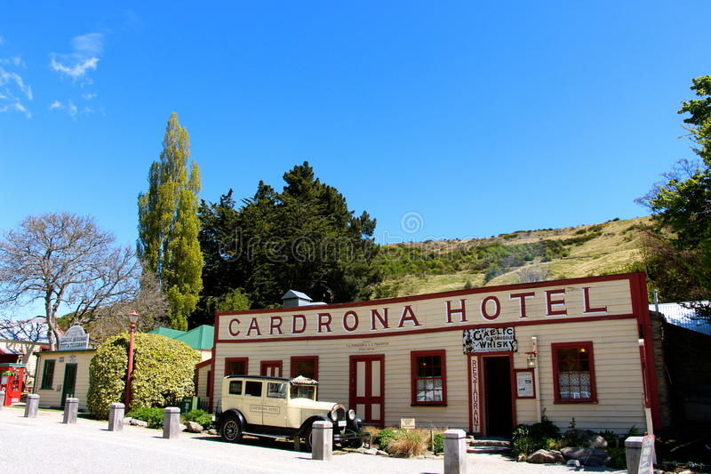 Hotel famoso Nova Zelândia de Cardrona foto de stock royalty free