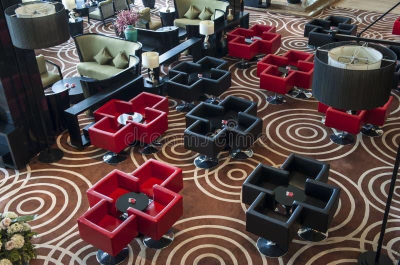 Hotel Fine Dining Restaurant. Interior of a hotel fine dining restaurant stock photos