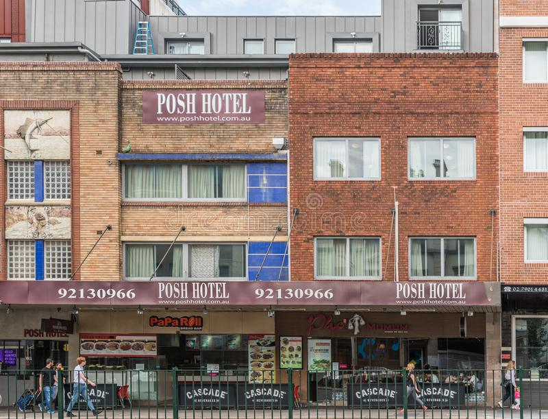 Hotel fino histórico em Broadway, Sydney Australia imagens de stock