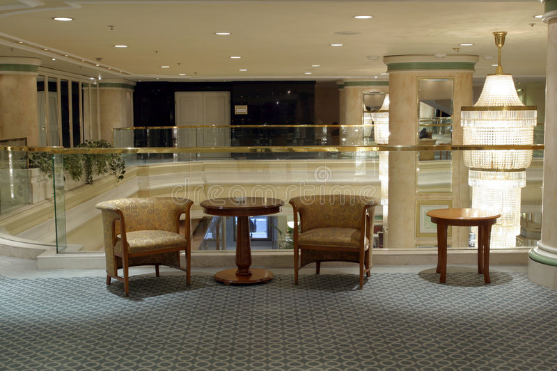 Hotel foyer royalty free stock photography
