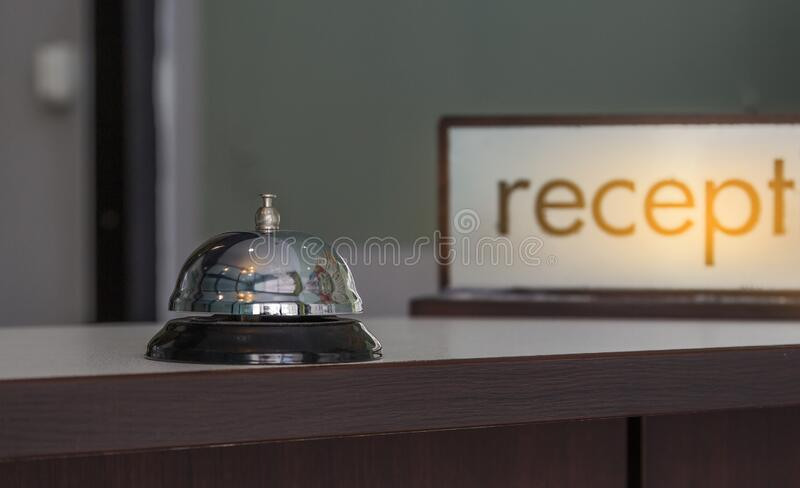 Hotel frente de recepção imagem de stock royalty free