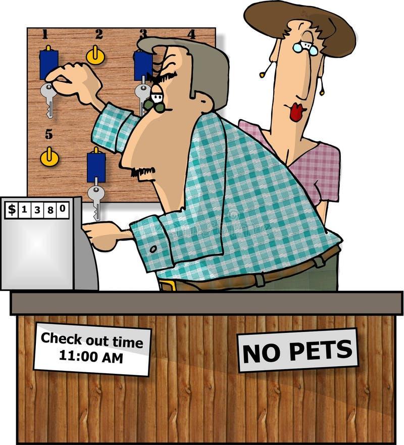 Download Hotel Front Desk Stock Illustration Image Of Vocation