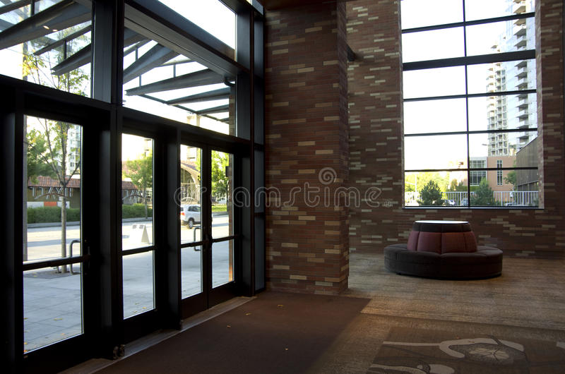 Hotel front lobby stock image