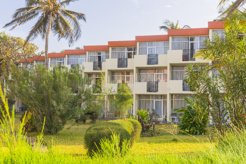 Hotel in Gambia stock foto
