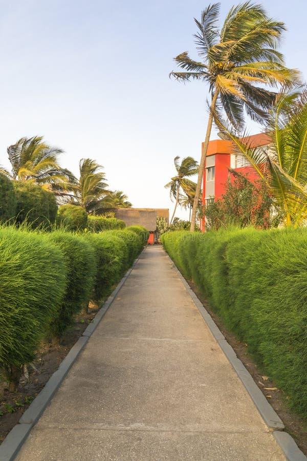 Hotel in Gambia stock afbeeldingen