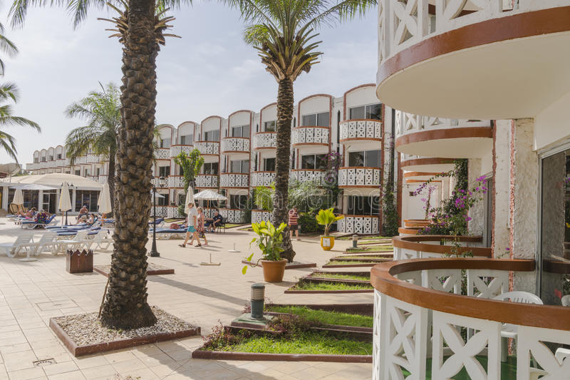Hotel in Gambia stock fotografie