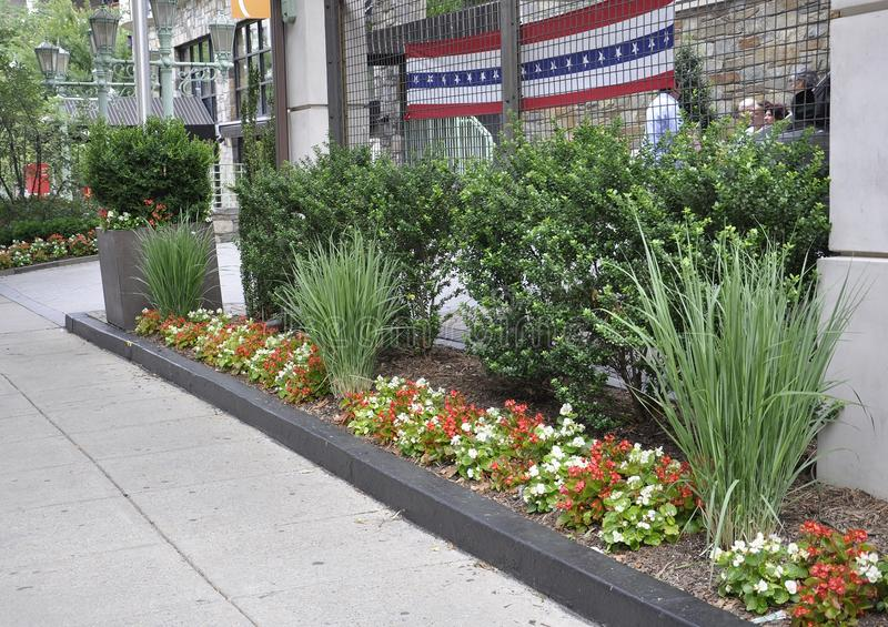 Washington DC, July 4th 2017: Hotel Garden from Downtown of Washington District of Columbia USA royalty free stock photo