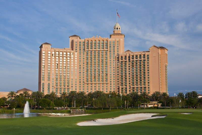 Hotel on Golf Course stock photos