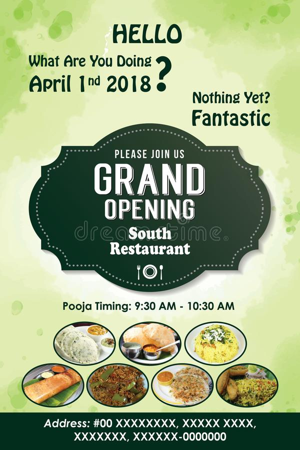 Hotel Grand Opening Poster template vector illustration