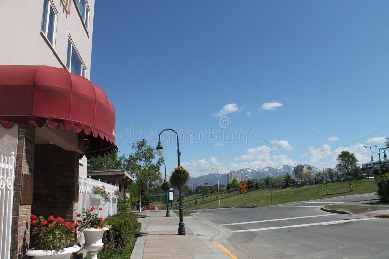 Hotel grande de Anchorage fotos de stock