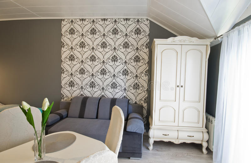 Hotel or guest house elegant room royalty free stock image
