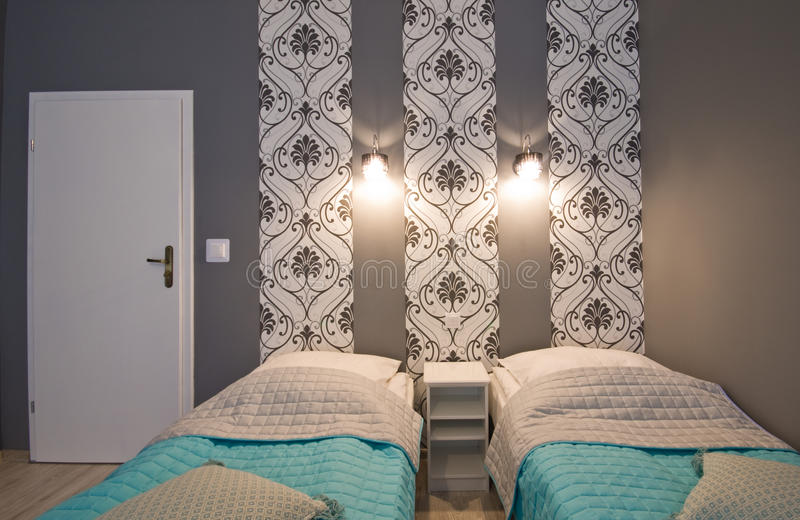 Hotel or guest house elegant room stock photo