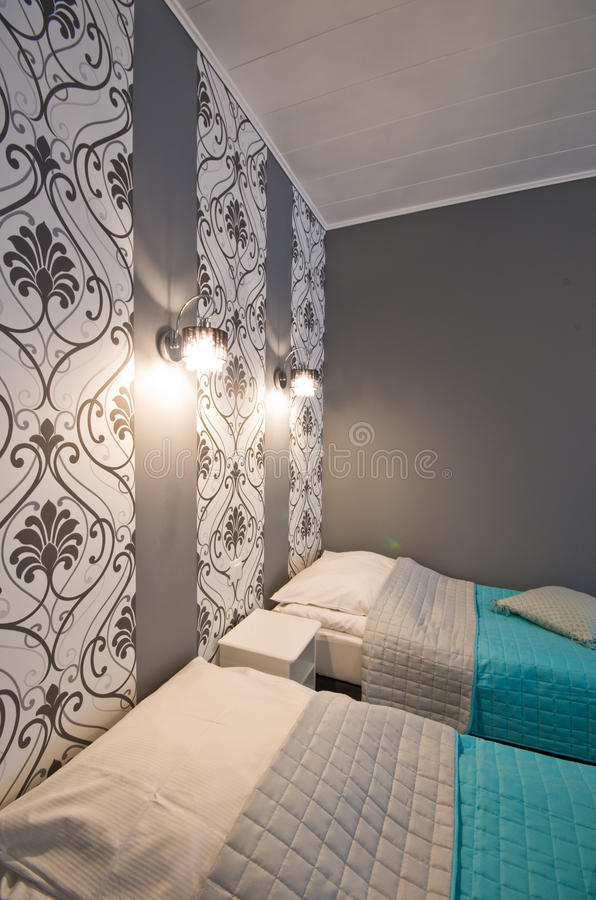 Hotel or guest house elegant room royalty free stock images