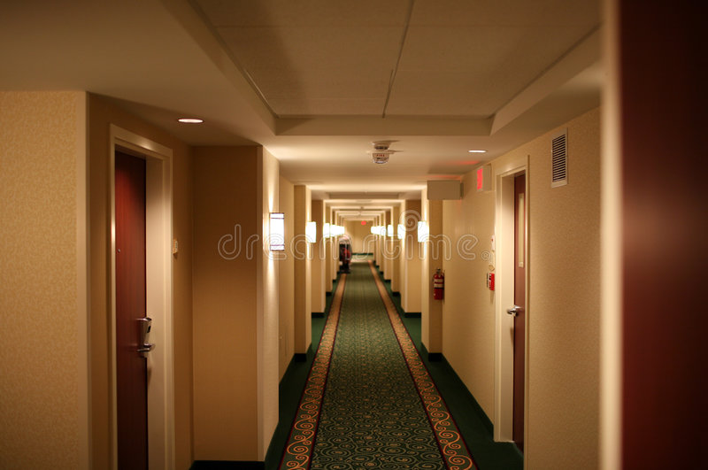 Hotel Hallway royalty free stock photos