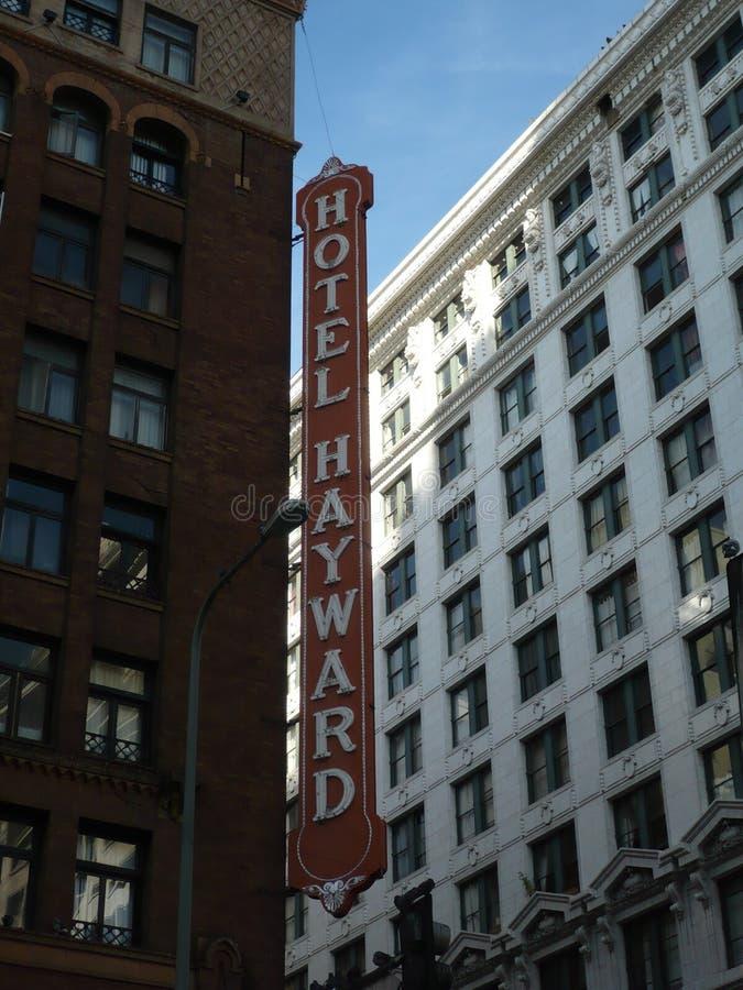 Hotel Hayward Signage en Los Angeles céntrico stock de ilustración