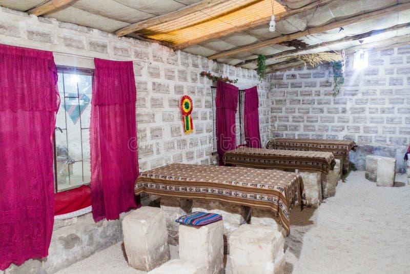 Hotel hecho de la sal imagen de archivo