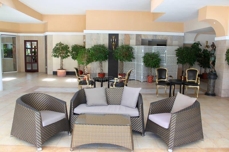 Hotel het dineren restaurant royalty-vrije stock fotografie