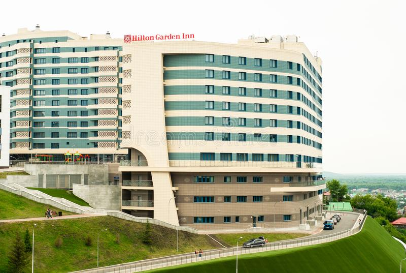 Hotel Hilton Garden Inn Ufa Riverside foto de archivo