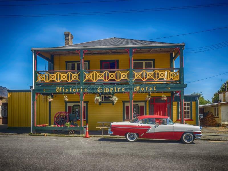 Hotel histórico de Nova Zelândia imagens de stock