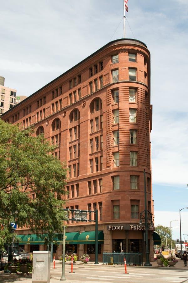 Hotel histórico del palacio de Brown en Denver céntrica imágenes de archivo libres de regalías