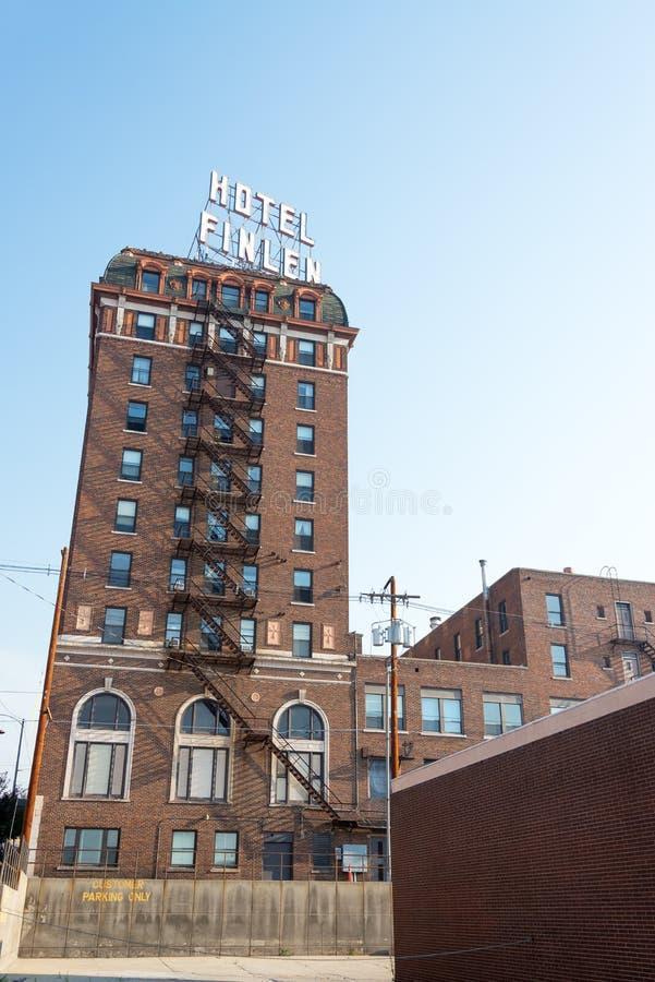 Hotel histórico Finlen imagem de stock