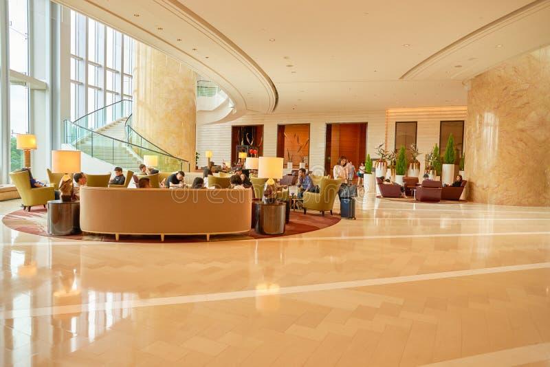 Hotel Hong Kong Lobby de quatro estações foto de stock