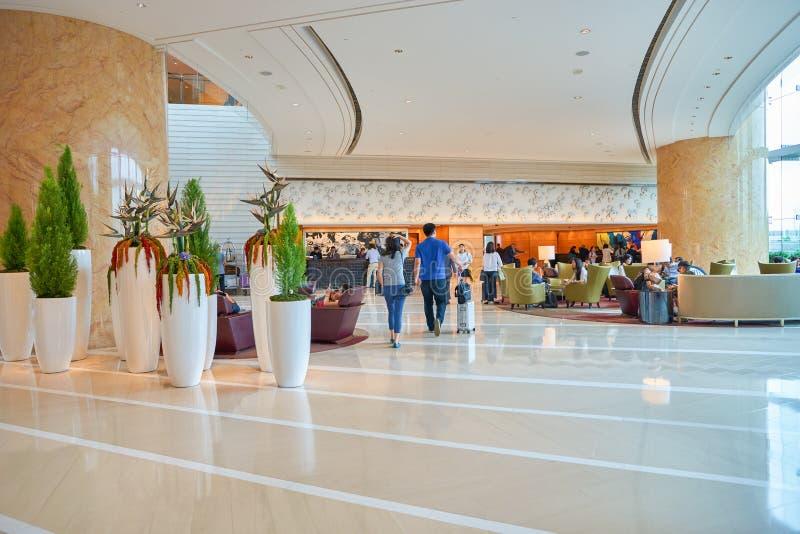 Hotel Hong Kong Lobby de quatro estações fotos de stock