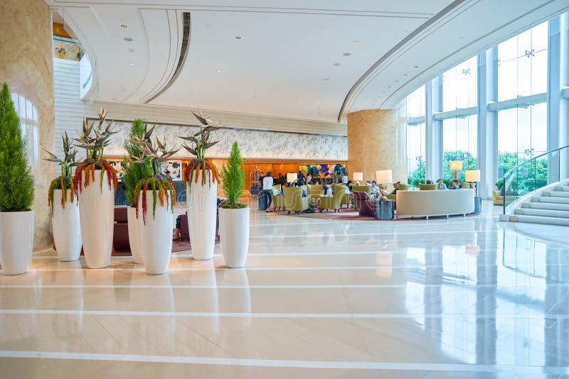 Hotel Hong Kong Lobby de quatro estações imagem de stock royalty free
