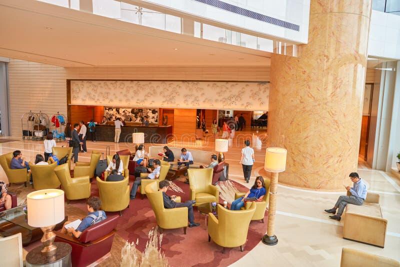 Hotel Hong Kong Lobby de quatro estações foto de stock royalty free