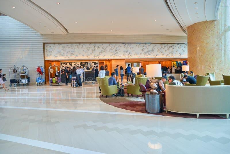 Hotel Hong Kong Lobby de quatro estações fotografia de stock royalty free