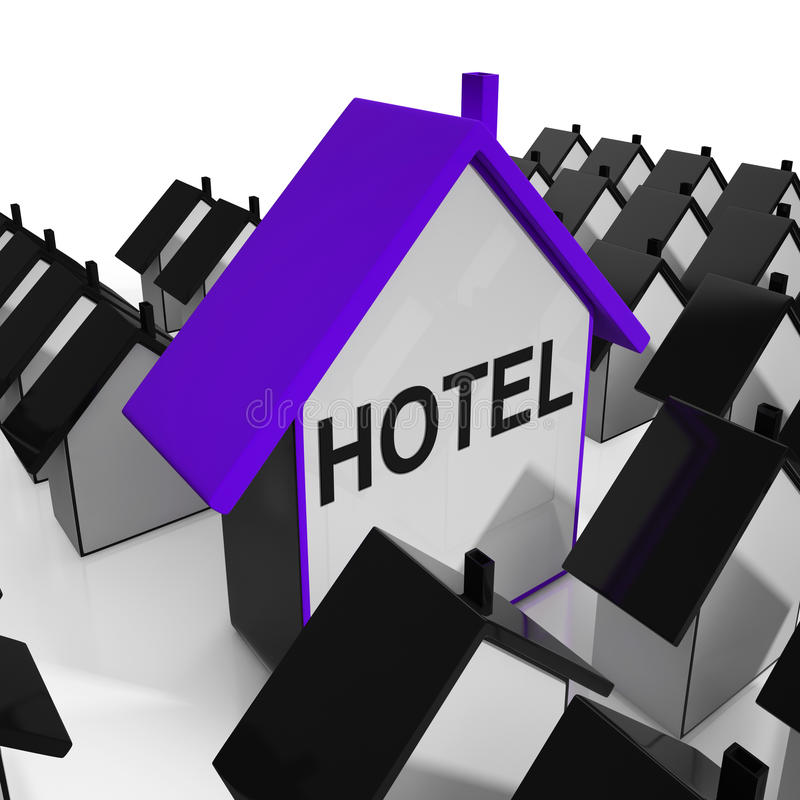 Hotel House Shows Place To Stay And Units. Hotel House Showing Place To Stay And Units royalty free illustration