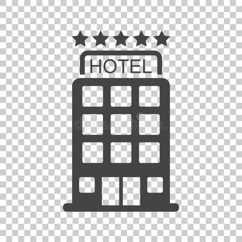 Hotel icon on isolated background. Simple flat pictogram for bus vector illustration