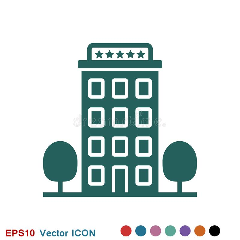 Hotel icon logo, illustration, vector sign symbol for design vector illustration