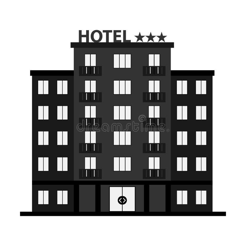 Hotel, hotel icon, three-star hotel. vector illustration