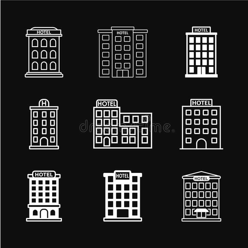 Hotel icon vector stock illustration
